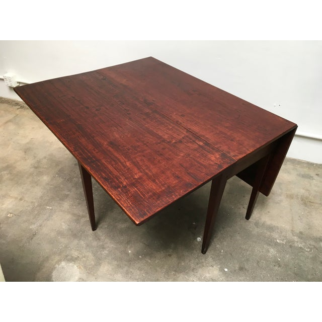 American Antique Gate Leg Table Drop-Leaf Console For Sale In Los Angeles - Image 6 of 11