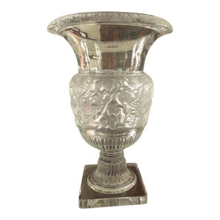 Lalique of France Versailles Pattern Crystal Urn Vase For Sale