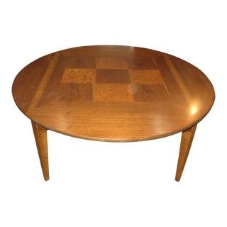 Lane Furniture Checkered Burlwood Inlay Coffee Table