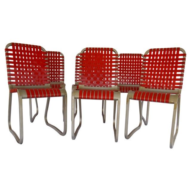 Mid-Century Aluminum Side Chairs - Set of 6 - Image 1 of 5