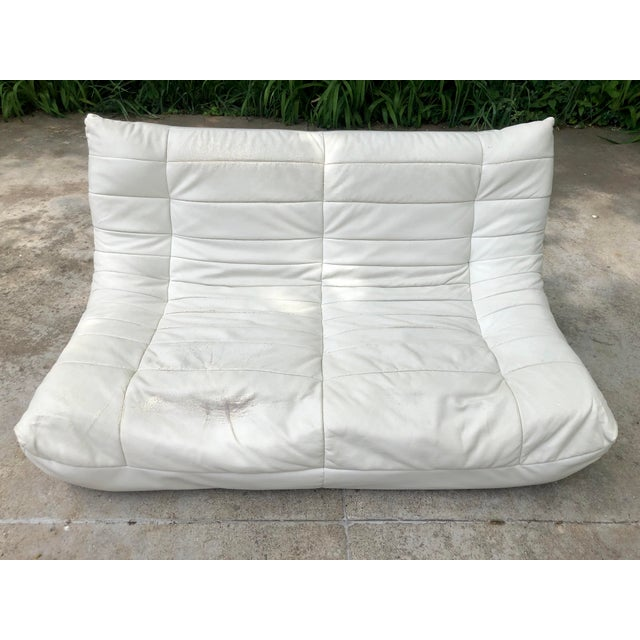 Michael Ducaroy Togo Style White Vinyl Sectional - Set of 4 For Sale - Image 9 of 13