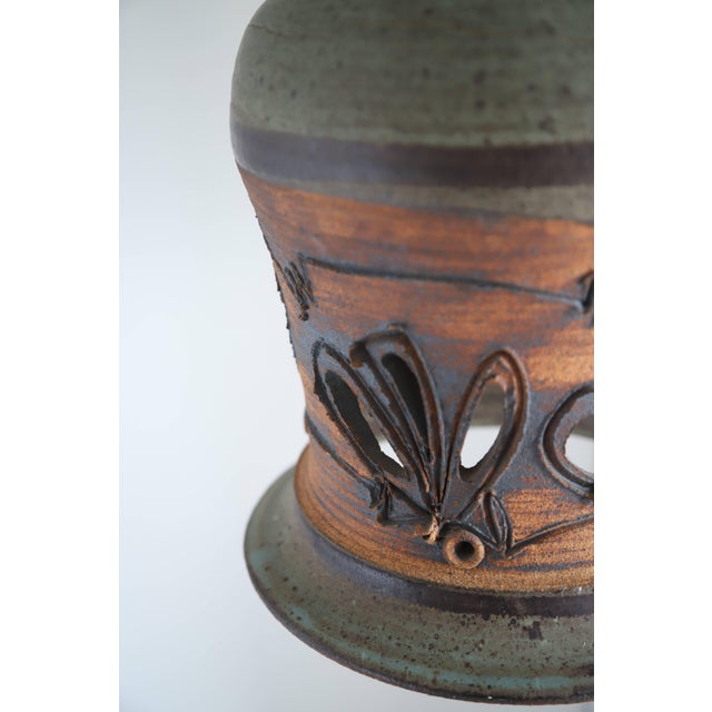 Vintage Hand Thrown Ceramic Pendant Light - Image 8 of 11