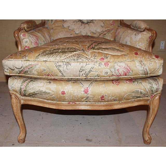 Bleached Bergere Armchairs Pair For Sale - Image 4 of 7