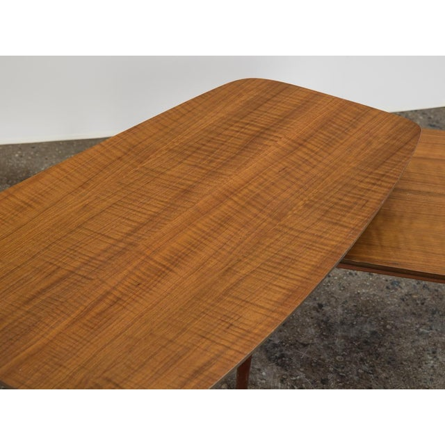 Brown 1950s Bertha Schaefer Folding Coffee Table For Sale - Image 8 of 12