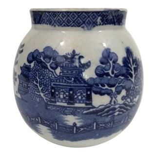 Antique Blue Willow Jar For Sale