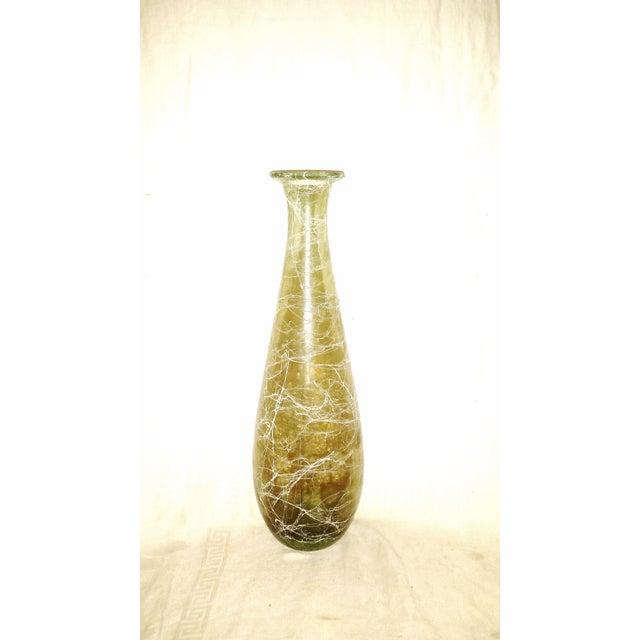 Mid-Century White Smokey Glass Vase For Sale In Sacramento - Image 6 of 6