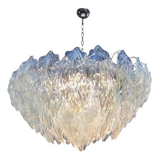 Murano Glass Chandelier by Mazzega For Sale