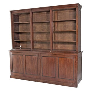 Late 19th Century English Mahogany Bookcase For Sale