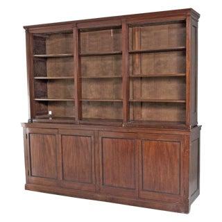 Late 19th Century English Mahogany Bookcase For Sale