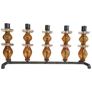 Large Five-Arm Candleholder by Erik Hoglund, Sweden For Sale