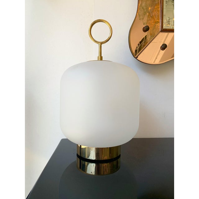 Pair of Medium size of the Can lamp model by Studio MS, Murano glass and brass. Exist in 3 size. Small artisanal...