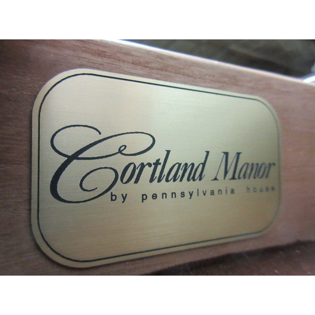 Pennsylvania House Cortland Manor Cherry Banquet Dining Conference Table For Sale - Image 9 of 11