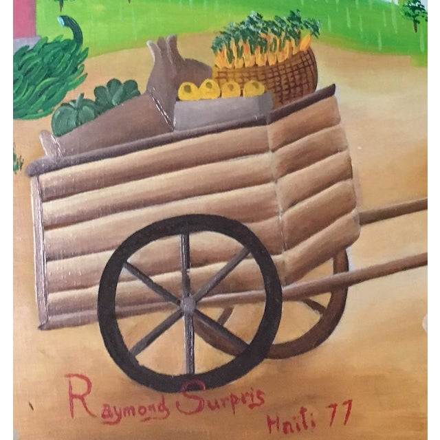 Mid-Century Haitian Painting by Raymond Surpris For Sale - Image 5 of 6