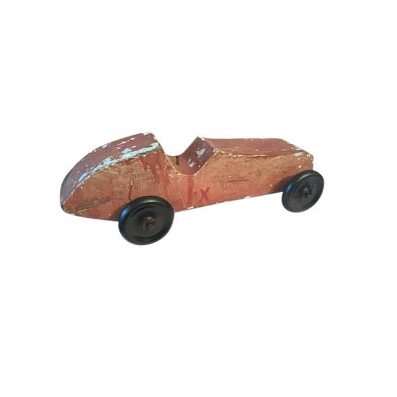 Handmade Race Car Pull Toy - Image 1 of 8