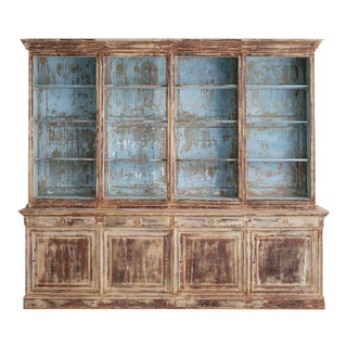 19th Century French Directoire Style Bibliothèque Bookcase in Original Paint For Sale