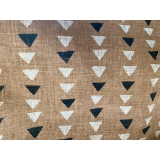Rust Mudcloth Style Upholstery Fabric - 1 Yard For Sale