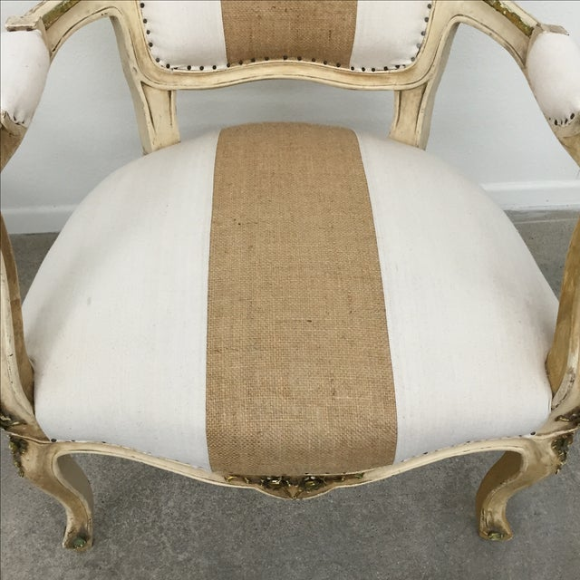 Vintage Louis XV Style Armchairs - Pair - Image 7 of 11