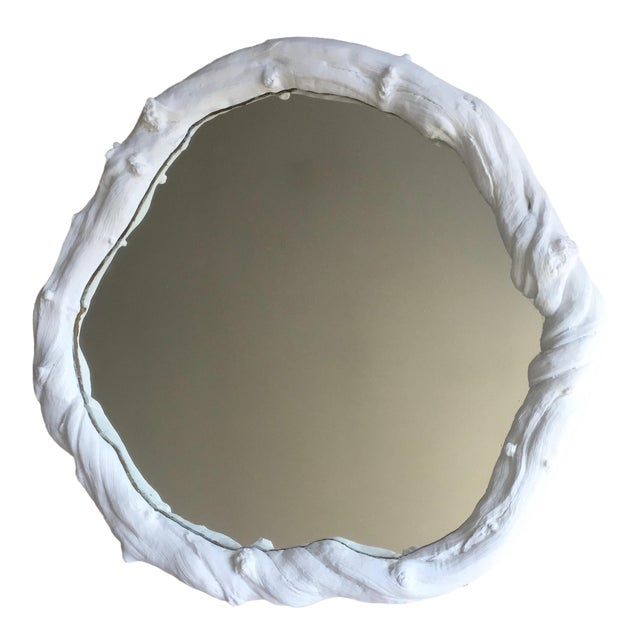 """Vintage 23"""" Faux Bois Wall Mirror For Sale"""