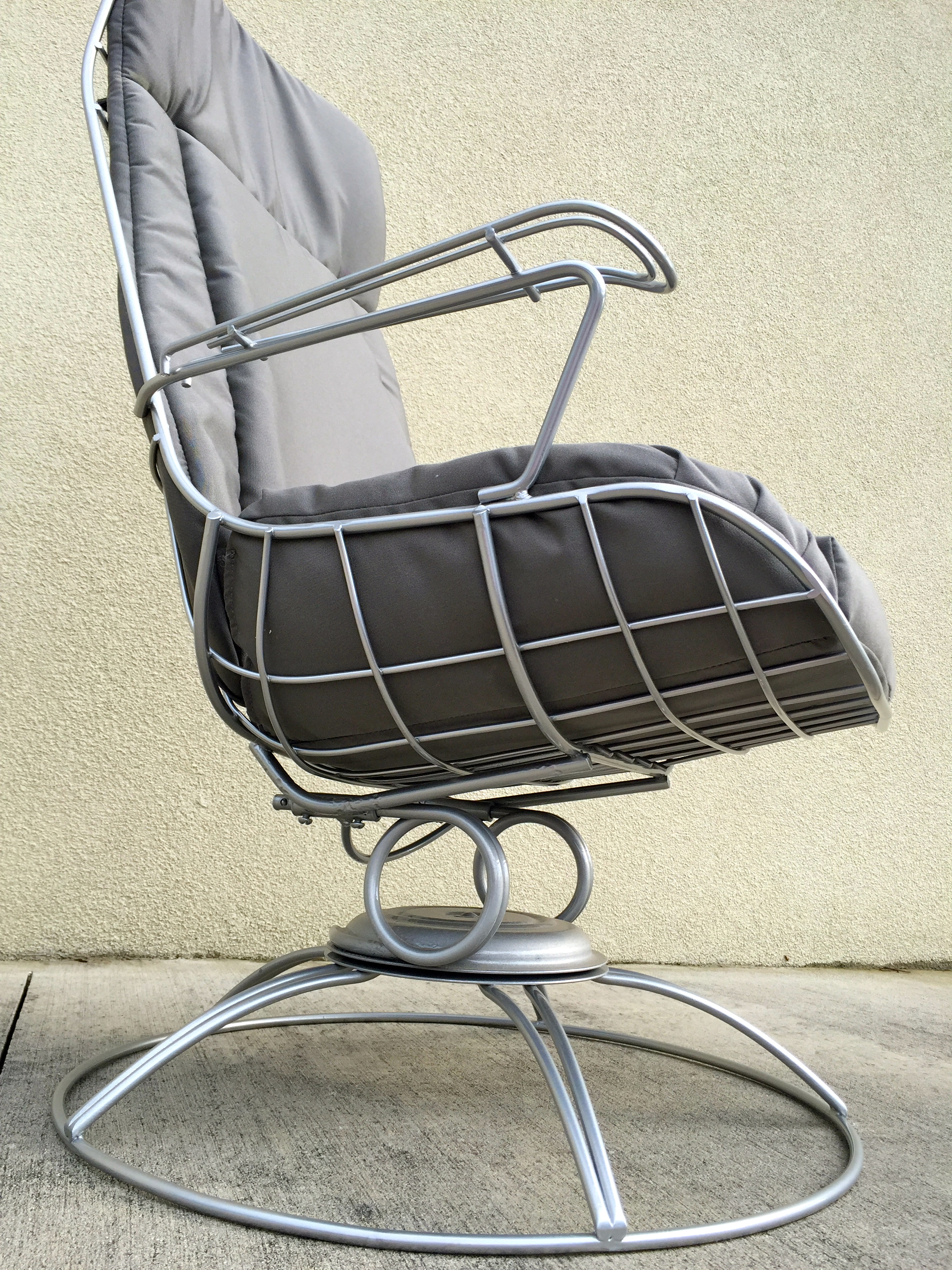 Attractive Restored Mid Century Wrought Iron Lounge Chair   Image 10 Of 11