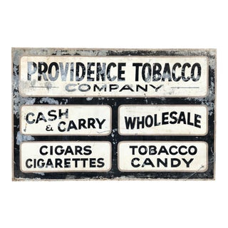 1940's Vintage Providence Rhode Island Trade Sign For Sale