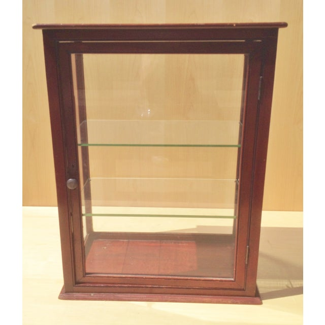 19th C. English Mahogany Counter Top Display Case - Image 3 of 6