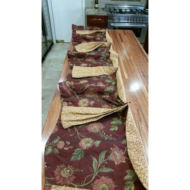 Green Gold & Red Fabric Valance For Sale - Image 8 of 13