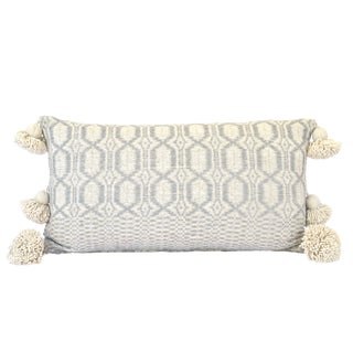 Handwoven Cotton Pom Pom Pillow For Sale
