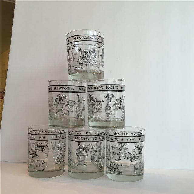 Pharmacy Cocktail Glasses - Set of 6 For Sale In Birmingham - Image 6 of 11