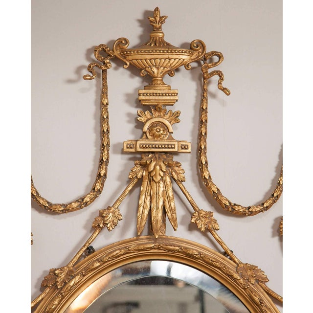 Late 19th Century George III Style Giltwood Girandole Mirror For Sale - Image 5 of 11