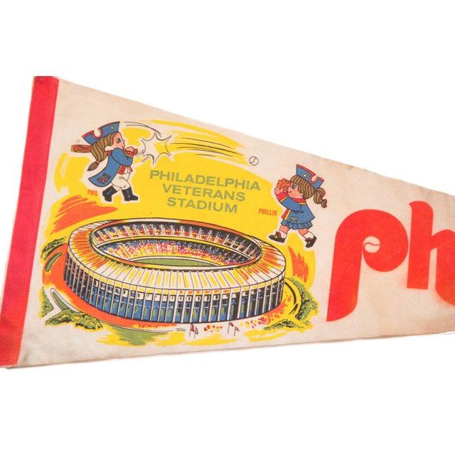 1970s Phillies Philadelphia Veterans Stadium Felt Flag - Image 3 of 3