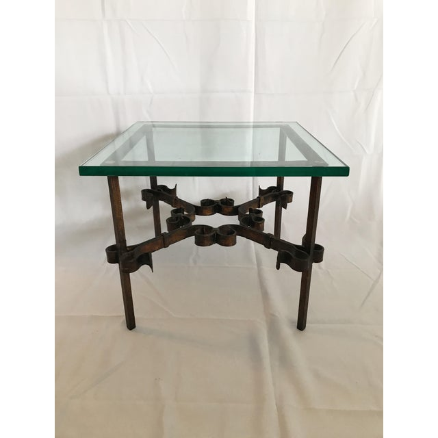 1960's Mid Century Modern Marshall Fields Spanish Revival Style Wrought Iron Side Table For Sale - Image 10 of 10
