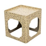 Image of Handpainted Tortoise Square Side Table by Hollyhock For Sale