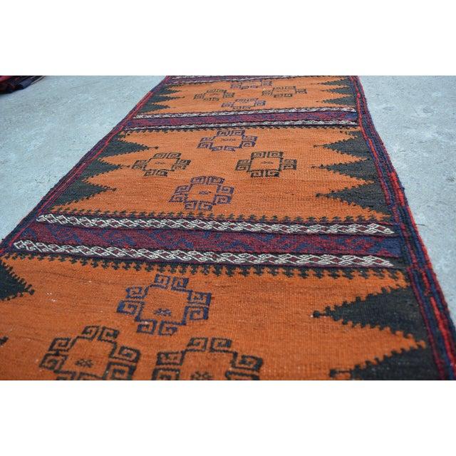 """Vintage Afghan Sumak Kilim Runner - 2' x 5'3"""" - Image 5 of 6"""