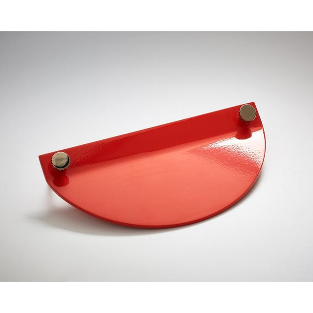 Bauhaus Nest Studio Collection Geo-C-02 Tomato Pull For Sale - Image 3 of 3