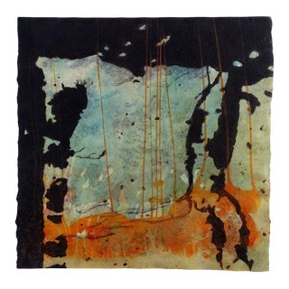 "Niederhausen Mixed Media on Paper ""Behind the Curtain"", Contemporary Abstract For Sale"