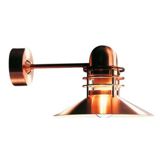 Louis Poulsen 'Nyhavn' Copper Outdoor Wall Lamp