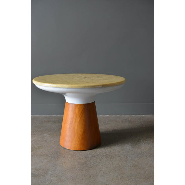 Mid-Century Modern 1965 Vintage Frank Rohloff for Brown Saltman Stone Occasional Table For Sale - Image 3 of 8