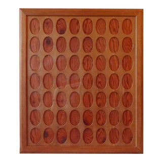 Mid Century Wood and Glass Collage Picture Frame Holds Fifty Six Photographs For Sale