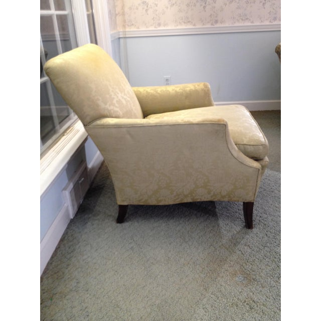 Traditional 1930s Antique Coil Sprung Armchair For Sale - Image 3 of 7