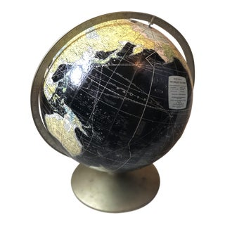 Rand McNally Black World Globe For Sale