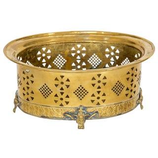 Pierced Brass Centerpiece by Mottahedeh For Sale