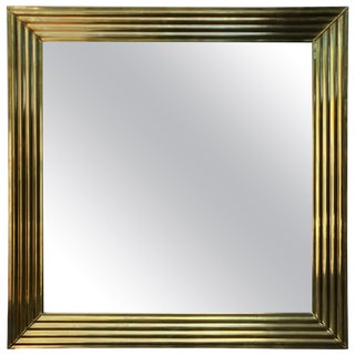 Large Brass Mirror For Sale