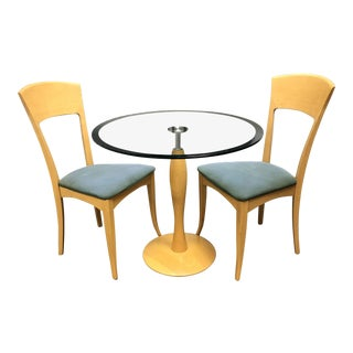 A.Sibau Bistro Table + Two Chairs For Sale