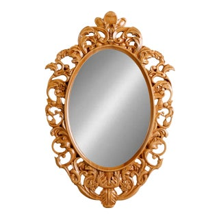 Antique Style Oval Wall Mirror For Sale