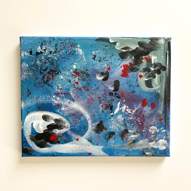 Contemporary Abstract Contemporary Original Acrylic Painting For Sale - Image 3 of 3