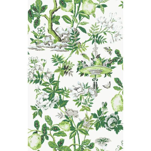 Red by Scalamandre Peel & Stick Wallpaper, Shantung Garden, Verdance For Sale