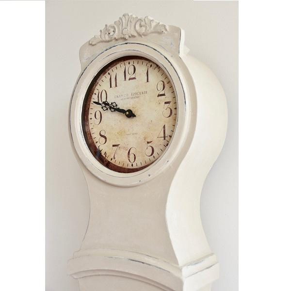 2010s Hand Painted Antique White Mora Clock Reproduction For Sale - Image 5 of 7