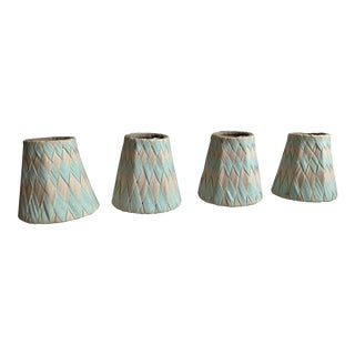 1990s Anthropologie Candle Sconce Shades - Set of 4 For Sale