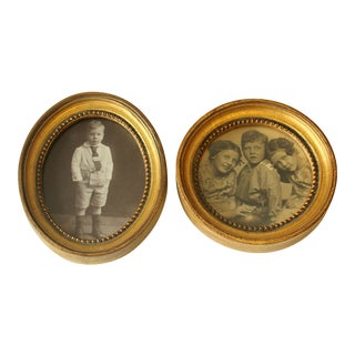 1930s Old Wooden Florentine Style Photo Frames - a Pair For Sale