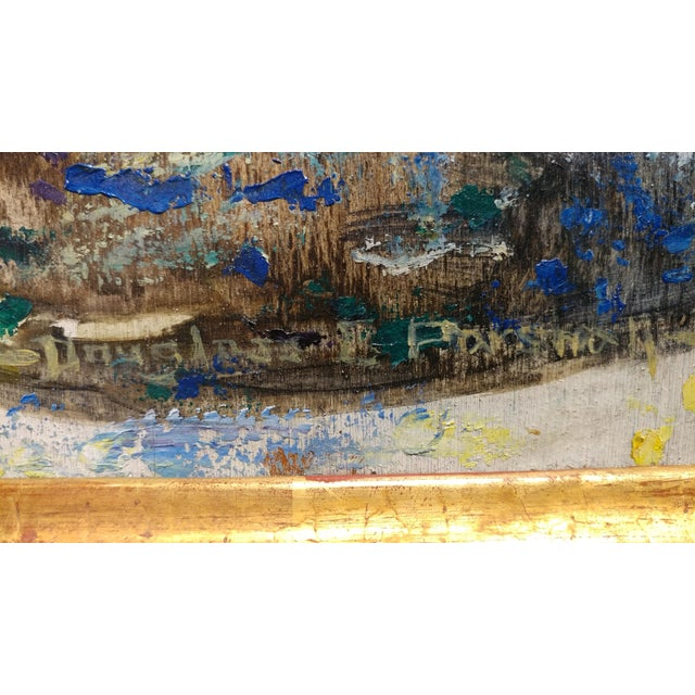 Douglass Parshall - Tiled Fountain -Oil Painting - California Impressionist For Sale In Los Angeles - Image 6 of 10